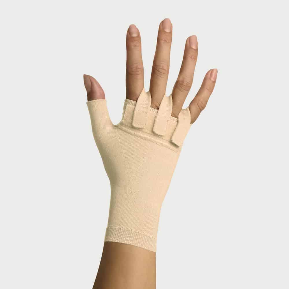 Yanık Bası Eldiveni Baş Parmaklı JM-006-1 Şeritli