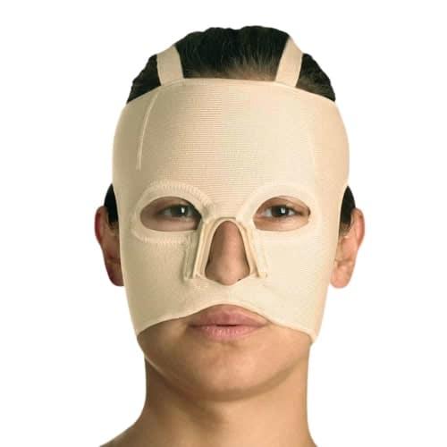 yanık bası maskesi çenesiz